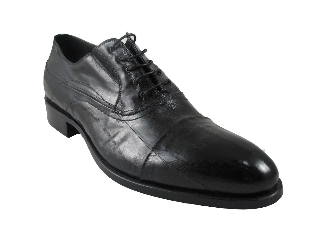 174219ea Zapatos Vestir rojowood 8402 Para Con Cordones Piel De Anguila en Negro  Hombres De nrvidb7670-Zapatos de vestir
