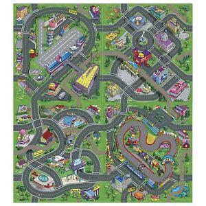 4x-Grand-Enfants-City-Route-Sol-Play-Tapis-Aeroport-Bas-Ville-Course