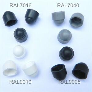 Schlüsselweite 10mm Farbe schwarz 50 Stück Sechskant Schutzkappe M6 Abdeckk