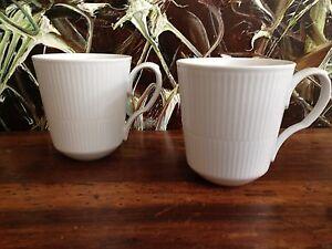 ROYAL-COPENHAGEN-weiss-gerippt-white-fluted-2-Kaffeebecher-0-37-Ltr-NEU