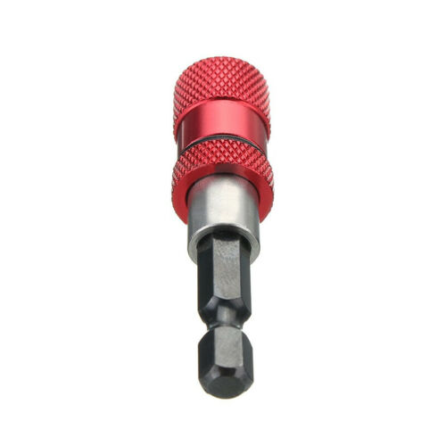 Drywall In Holder Drill Driver Shank Bit Adjustable Red Magnetic Screw Kit Hex