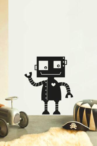 Robot No11 children/'s bedroom nursery Sticker Vinyle Mur Transfert Art Home Decor