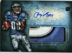 2012 RYAN BROYLES OKLAHOMA/LIONS TOPPS INCEPTION ROOKIE PATCH ...
