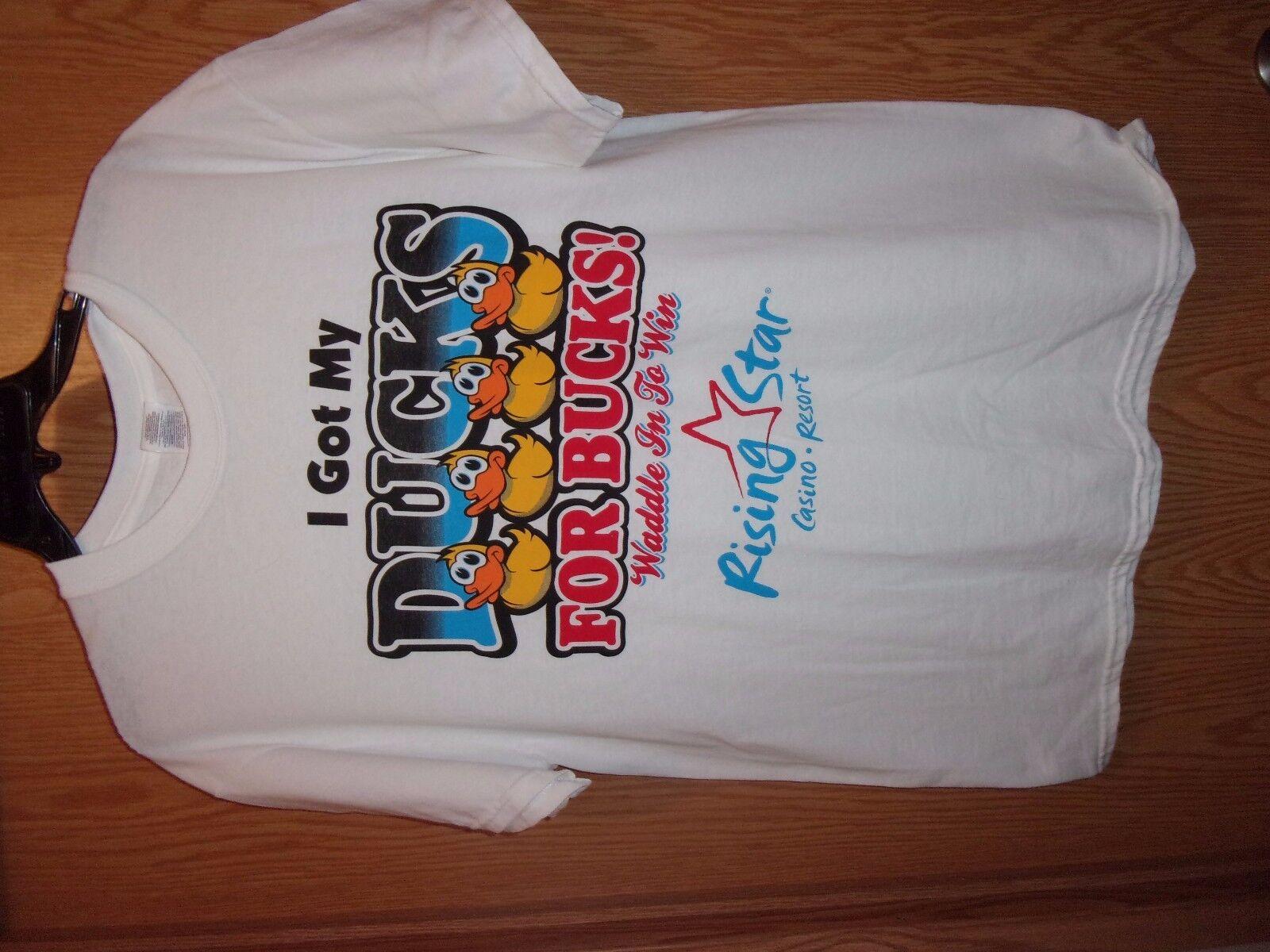 Rising Star Casino white graphic L t shirt Ducks … - image 1