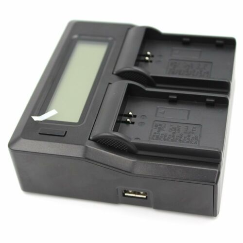 LCD Dual Channel Cargador para Nikon ENEL 3E FUJI NP150 OLY BLM1//BLM5 PTX D-L150