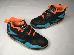 0a4942bd1a87 2015 Nike Air Diamond Turf 2.0 SZ 8 Orange Black Blue 407911-401 ...