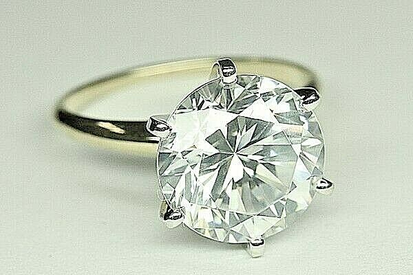 5.00 CT DIAMOND ENGAGEMENT RING ROUND  CUT SET IN 14K WHITE gold 6 PRONG