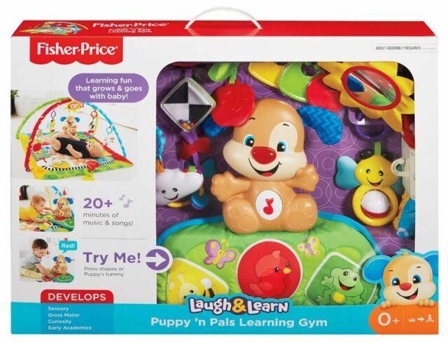 Fisher Price Puppy & Friends Learning Gym Play Mat with Music Sounds & Phrases