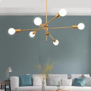 uk availability c67e6 333d2 Details about 3 Arms 6-Lights Brass Sputnik Chandelier Ceiling Light  Pendant Lighting Fixtures
