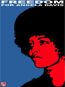 Black Panther Political Poster Freedom 4 Angela Davis Civil Rights