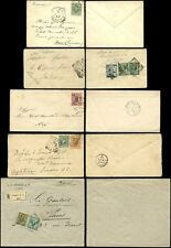 ITALY 1879-1911 COVERS...5 ITEMS inc REGISTERED