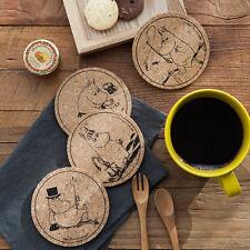 4 PCS Moomin Cork Vintage Style Tea Coffee Drink Mug Cup Glass Coaster Pad