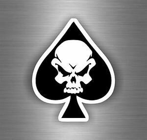 Autocollant-sticker-biker-moto-motard-tete-de-mort-skull-as-de-pic-tuning-pirate