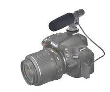 JJC Stereo Microphone for Nikon SLR D300S D800 D7000 D5100 D3S D4 D3200 D600