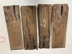 Pack Of 4, WALNUT Root Wood Turning Blank /Bowl Blanks/Wood Block, Lathe