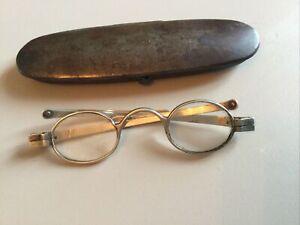 Antique-Silver-Spectacles-In-Original-Case