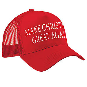 Image is loading Make-CHRISTMAS-Great-Again-TRUCKER-Cap-Funny-Donald- 5fddc73f91a