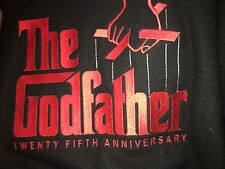 THE GODFATHER 25TH ANNIVERSARY CAST AND CREW JACKET LARGE WOOL AND LEATHER MINTY