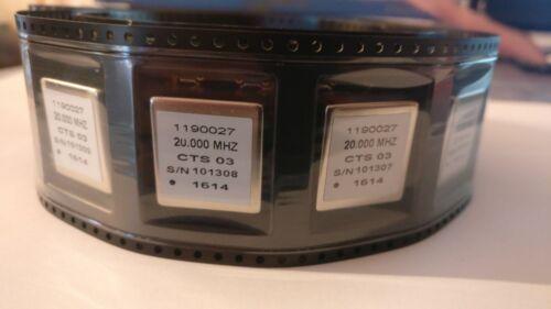 1 x CTS OCXO Crystal Oscillator Model 1190027 3.3V 20MHz