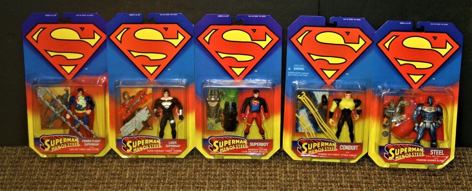 DC súperman Man of Steel, potencia de vuelo de 1995 Figuras De Acción De súperman Lote de 5