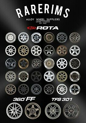 NEW Official Rarerims A1 Size Poster Rota Wheels Christmas Birthday Present