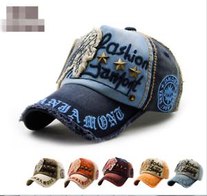 Skull Rivet Fist Vintage Distressed Men Baseball Cap Retro Dad Hat ... 15c026d1eada