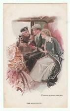 "Harrison Fisher Signed Postcard Glamorous Lady ""The Honeymoon"" R&N 189"