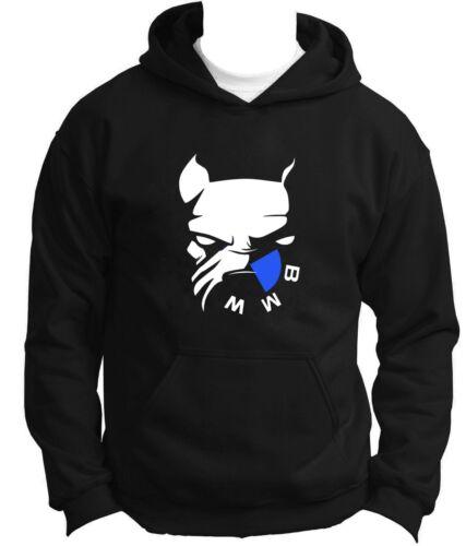 NEW BMW DOG Hoodie Hoody Hooded Sweatshirt Jumper Pullover