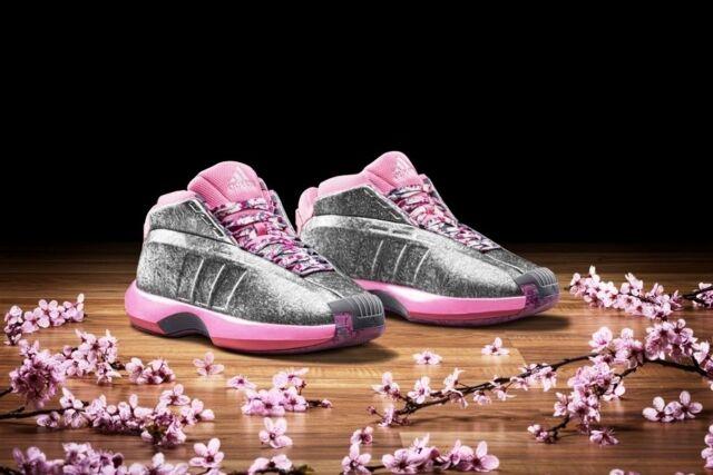 huge selection of b48d0 371fb Adidas Crazy 1 John Wall PE Florist City Pink Sliver Men s Basketball Shoes
