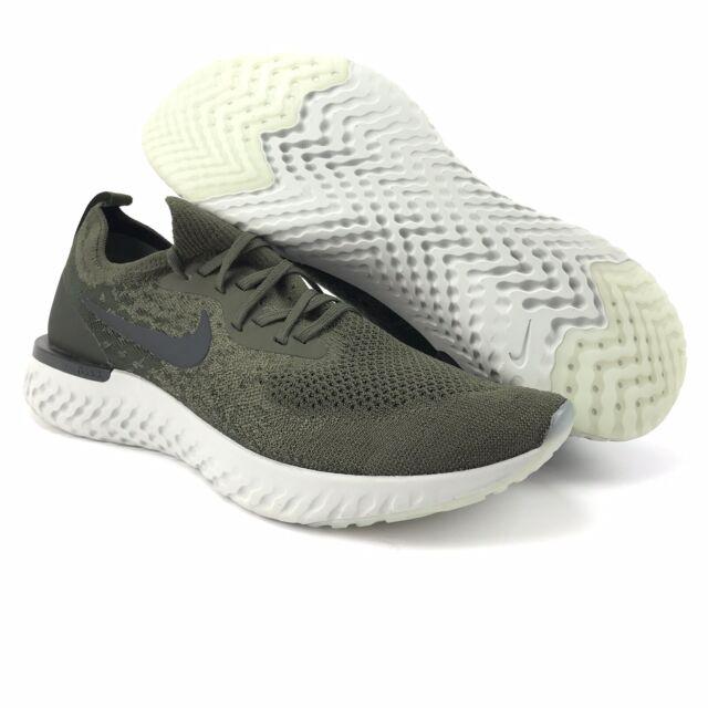 a976cc58cf Nike Mens Epic React Flyknit Cargo Khaki Black Trainer Running Shoes Size 12