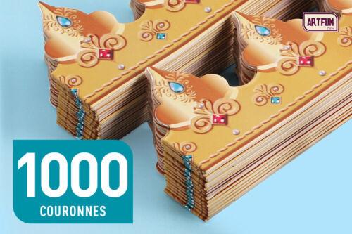 VENDOME PLIÉES 17 CM ArtFun  LOT 1000 COURONNES EPIPHANIE GALETTE DES ROIS