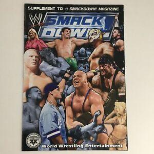 WWE Smack Down Magazine 2003 Vince McMahon, Brock Lesnar, No Label no Poster