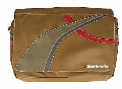 Lambretta Lap Top School Shoulder Bag TARGET Black or Brown (GO)