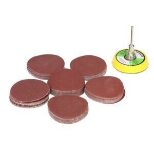 8pc 50mm Surface Preparation Sanding Sander Discs Backing Pad Rotary Drill Tool