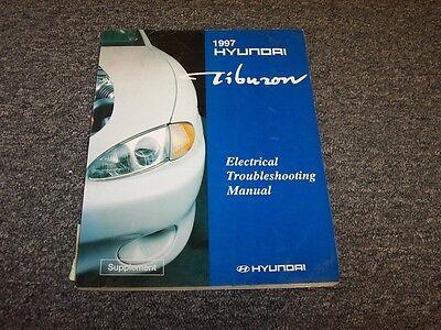 1997 hyundai tiburon coupe electrical wiring diagram manual book fx 1.8l  2.0l | ebay  ebay