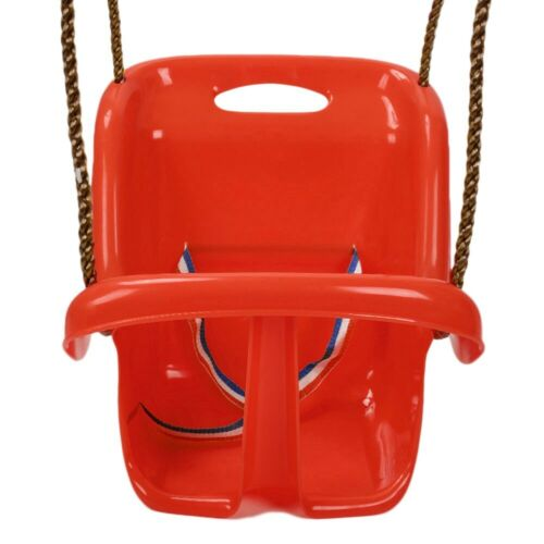 Toddler Baby Swing With Safety Seat Kids Outdoor Garden Play Toy High Back Set