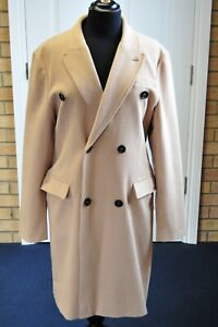 Women-039-s-Burberry-Sandringham-Cashmere-Beige-Camel-Coat-size-48