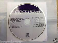 FREDDY FENDER  CHARLIE RICH Country Karaoke Classics CDG 17 Songs NEW