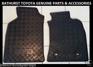TOYOTA-HILUX-RUBBER-FLOOR-MATS-FRONT-PAIR-SEP-2011-JUNE-2015-ALL-GENUINE