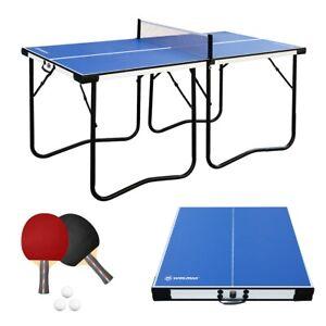 5.5FT Klappbare Tischtennistisch mit Netz WIN.MAX Tischtennisplatte Midsize TT
