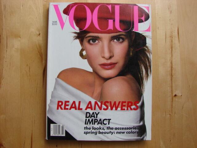 Vintage VOGUE Magazine ~ March 1988 ~ Stephanie Seymour