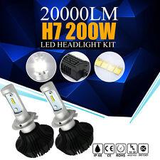 Pair H7 200W 20000LM CREE LED Headlight Kit Low Beam Head Light Bulbs 6500K Lamp