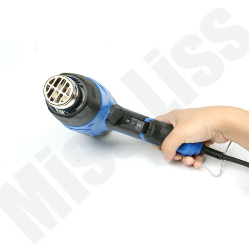Electric Hot Air Gun 2000W 2 Speed Temperature Heat Stripping Paint 4 Nozzles