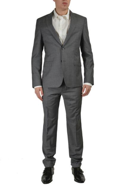 Hugo Boss Rayman/Wayne Men's Gray 100% Wool Suit Size US 40 IT 50