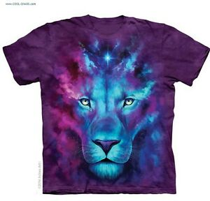 Image Is Loading Blue Lion T Shirt Purple Tie Dye Galaxy