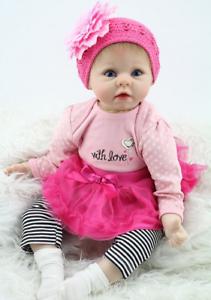 22/'/' Bambole Reborn Newborn Realistic Silicone Lifelike Baby Birthday Gift Toys