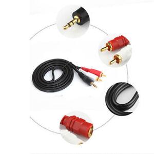1-5M-Y-3-5mm-Prise-Male-vers-Double-2-Rca-Jack-Cable-Stereo-PC-Audio-Repartiteur