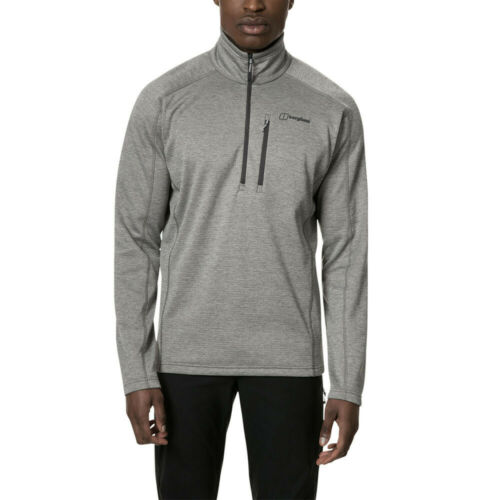 Berghaus Mens Spitzer Half Zip Top Grey Sports Outdoors Warm Breathable
