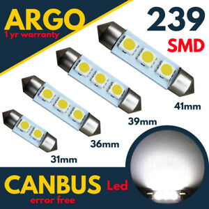 239-272-Numero-De-Matricula-C5w-LED-Festoon-Xenon-Blanco-Bombillas-31-36-39-41-mm-12v