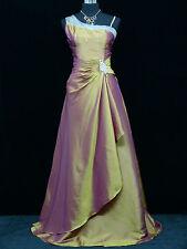 Cherlone Gold Hochzeit Ballkleid Abendkleid Brautkleid Brautjungfer Kleid 42